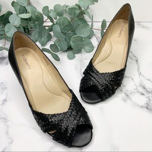 """GH BASS """"Adelyn"""" Open Toe Heel Shoes Size 6.5"""
